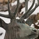 """""""il Cervo simbolico"""" presso il Santuario N.S. di Lourdes a Forno di Coazze"""