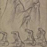 Matita nera, studi per scultura