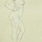 Matita nera, studio per scultura